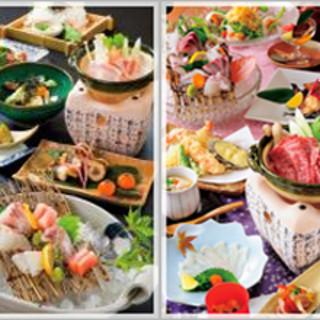 新鮮な魚介・野菜・お肉。四季折々の恵みを膳に彩ります。