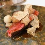 stesso e Magari CHIC - 鳥取県産 夏鹿フィレ肉のソテー 上手く文字で表現できないくらい美味しいです!!