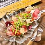 ビストロ カリテプリ - 低温調理した牛肉のカルパッチョ