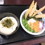 うどん満月 - ランチセット700円(山かけ丼)