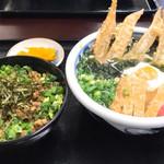 うどん満月 - ランチセット700円(そぼろ丼)