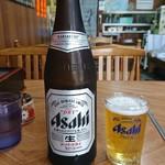 うどん深川 - 瓶ビール中!