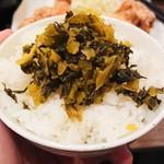 南蛮食堂 - 高菜オンザライス(無料)