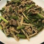 一番 - 料理写真:細肉とニンニクの芽炒め(750円)