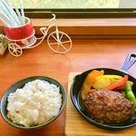 空のあお 海のあを Roti - 料理写真:近江牛ハンバーグ 1,380円(税込)