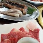 サッポロビール 仙台ビール園 - イカの姿と牛カルビ