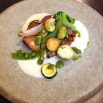 ワイン&お野菜バル ベジバル - イトヨリのポワレ 冷たいジャガイモのソース