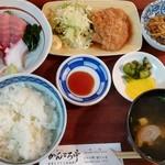 かんころ亭 - 日替り・チキンソテー定食(小刺身付)(720円税別)