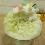 天然氷のかき氷 姫路官兵衛堂 - マスクメロンの風味一杯