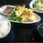 木村屋本店 - とり天定食。