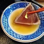 楠公レストハウス - [料理] 鰹の焼き霜造り (タタキ) アップ♪w