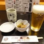 魚真 - クラッシック樽生(中ジョッキ) 450円