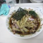 青島食堂 - チャーシュ麺メンマ追加