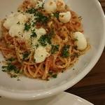 レストラン デルマール - ピリ辛トマトソースとチーズのスパゲッティ 1800円