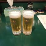 お好み焼 八点鐘 - ビールで乾杯