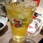 しゃぶしゃぶ 焼肉食べ放題 めり乃 - 緑茶ハイ