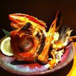 わたら瀬 - 特大金目鯛のカブト焼!旨みが乗ってます。