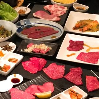 希少和牛焼肉をたっぷりお楽しみいただけるコースに舌鼓…。