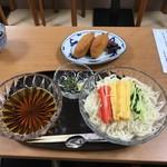 甘味よしや - 三色そうめんいなりセット(1000円)