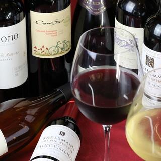 ビフテキとの相性を考慮した、珠玉のワインコレクション。