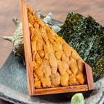【選べる定食】⑥天草名物 半板ウニと有明海苔の軍艦巻き