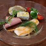 88276785 - ランチ前菜セット 1000円 の前菜