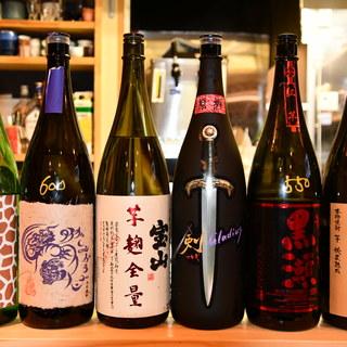 焼酎、日本酒豊富に取り揃えております