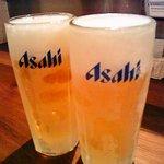 サーモンベーネ - キンキンに冷えたビールでかんぱ~い♪
