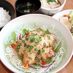 満天食堂 - 鶏のきざみ柚子マヨネーズ和え定食 〜 おかずサラダ風 〜
