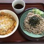 山田うどん - かき揚げ丼セット 620円税込