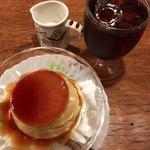 七つ森 - カスタードプリン&アイスコーヒー
