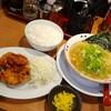 珍遊 - 料理写真:唐揚げ定食…中華そばを小に変更して800円(税込)