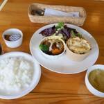 トランブルー  - チーズハンバーグとプチグラタンのハーフ&ハーフセット