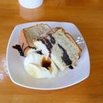 トランブルー  - バナナのシフォンケーキ