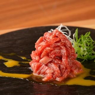 生食提供認可の安全な生肉を提供