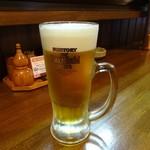 焼鳥花びし - ドリンク写真:生ビール570円