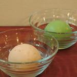 ほそつじいへえ TEA HOUSE - 自家製アイスクリーム