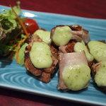 万潮 - 華味鶏のわさび焼き700円