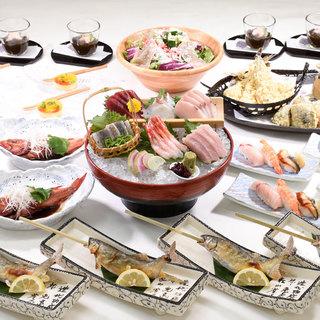 旬の食材を使用した、飲み放題付き季節の特別宴会コースをご用意
