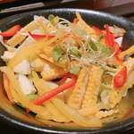 うまい野菜と魚がいっぱい 和んば - 夏野菜のサラダ♡トウモロコシ