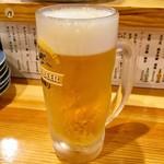 いなせや - 「生ビール」(280円)。