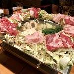 ねお 豊田 うりずん あぐー豚と旬菜うまいもん屋 - あぐー豚鉄しゃぶ