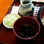 日本そば文化庵 - もりそば500円+大盛100円