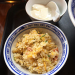 中国ラーメン揚州商人 - 杏仁豆腐、炒飯(再訪問2018.06)