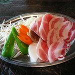 猪茶屋 - 料理写真:猪の焼き肉。