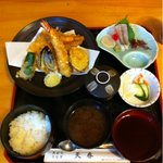 天春 - 上天ぷら定食。