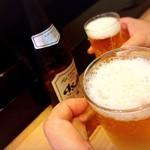 Sushizen - 瓶ビールはアサヒしかないようです…( ˘ω˘ )