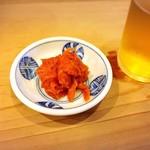 Sushizen - 突き出しのうにくらげ?日本酒飲みたくなるぅ… (*ノ∀`*)