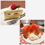 88317655 - ケーキとトマトサラダ