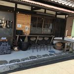 上木食堂 - お店入口横